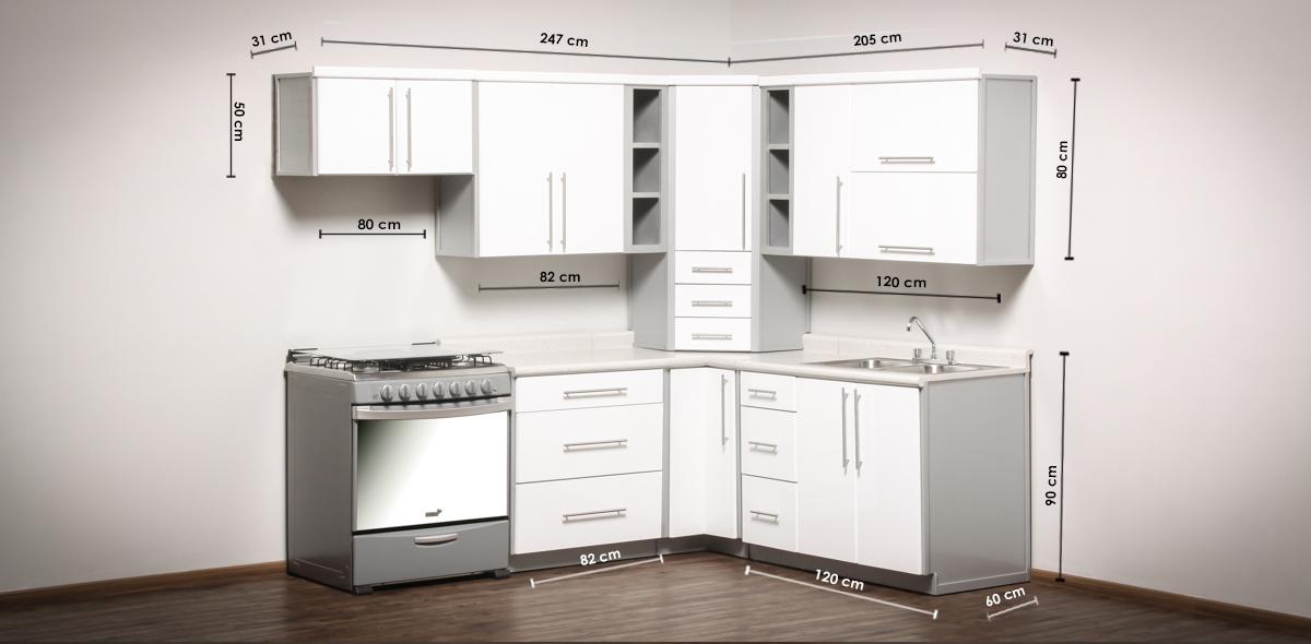 Medidas de una cocina latest top esquema medidas cocina for Medidas de muebles de cocina integral